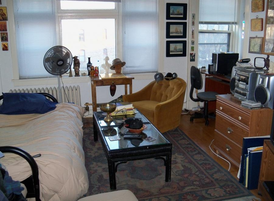 The main room of a studio apartment in Minneapolis, USA. The...