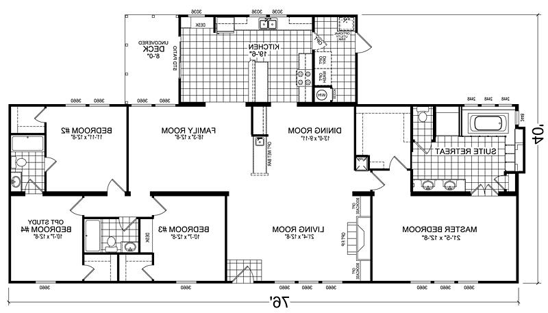 Triple wide floor plans photos for North carolina home plans