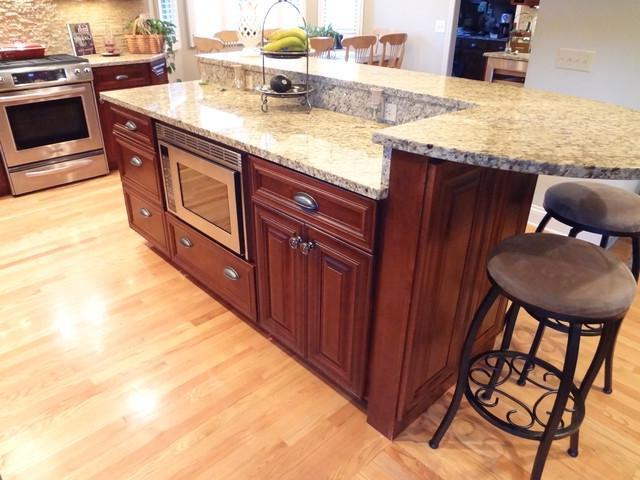 2 tier kitchen island photos. Black Bedroom Furniture Sets. Home Design Ideas