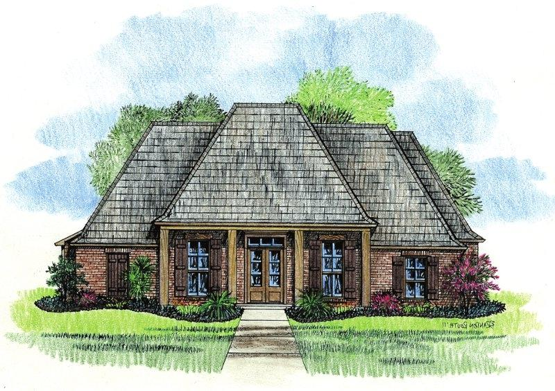 Country french house plans with photos for Louisiana home plans