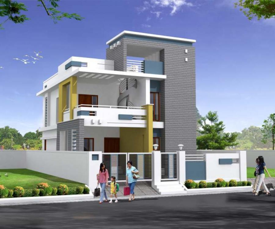 3d Elevation Logo Design Hyderabad Logo Design Hyderabad: Duplex House Elevation Hyderabad