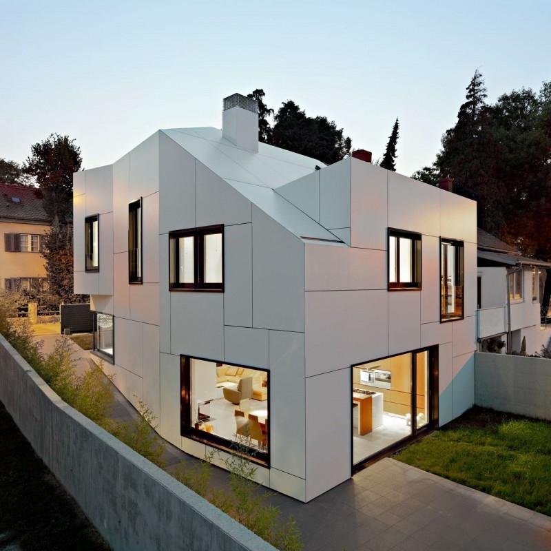 Fancy flat white roof vangviet interior design source