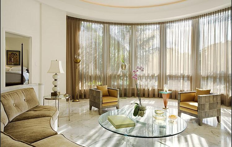 beautiful beige curtains. cozy living room