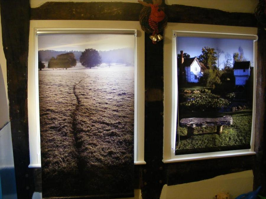 Photos Printed On Roller Blinds