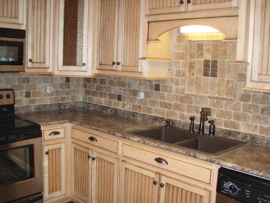Tumbled Stone Kitchen Backsplash Photos
