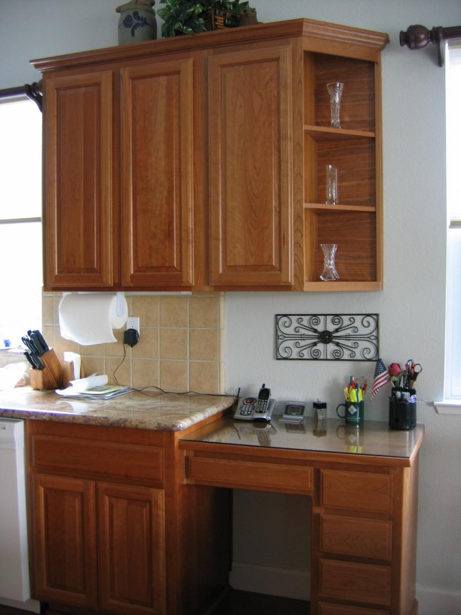 Built In Kitchen Desk Design Photos