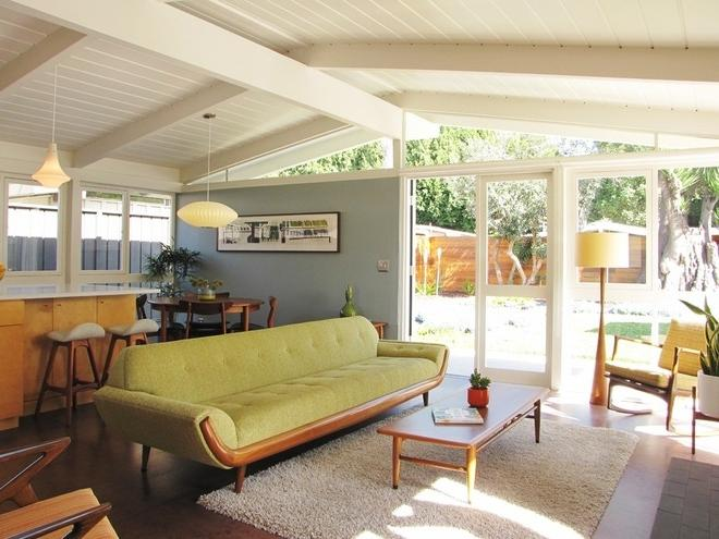 Midcentury Living Room by Tara Bussema - Neat Organization and...