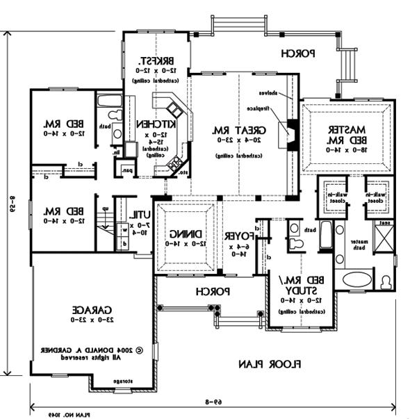 Donald a gardner house plans with photos for Zimmerman house floor plan
