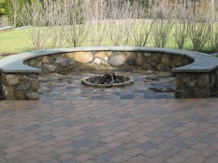 build outdoor stone fire pit 9