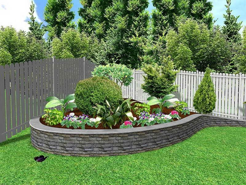 Photos of flower bed ideas for Low maintenance flower bed ideas