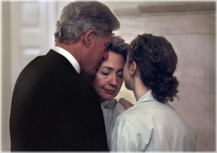 Outside of the White House, Chelsea parents encouraged her to...