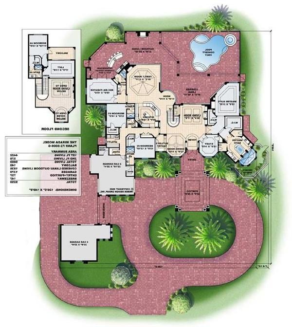 Spanish Mediterranean House Plans: Luxury Mediterranean House Plans With Photos