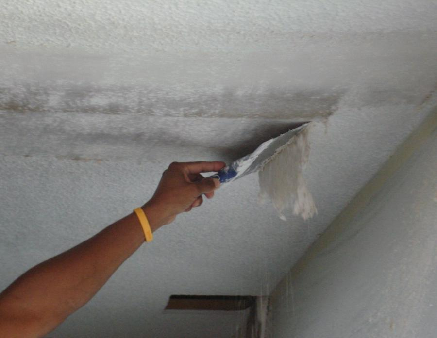 Remove the popcorn ceiling. (from here)