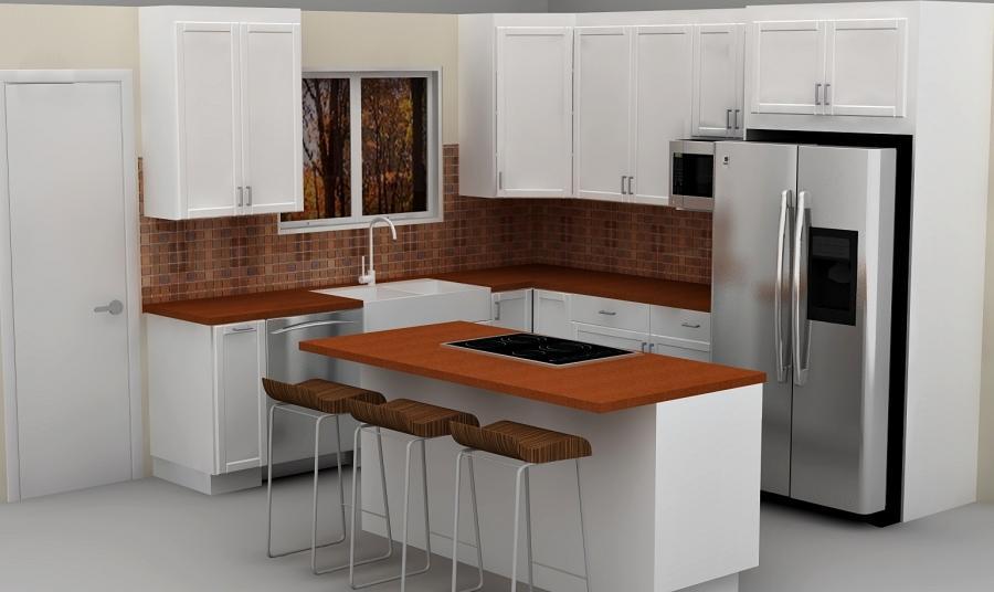 Cabinet ikea in kitchen photo