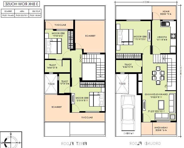 Row House Plans With Photos