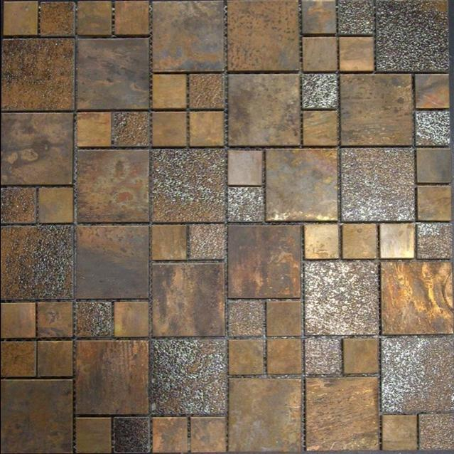 Antique copper tiles tropical-tile