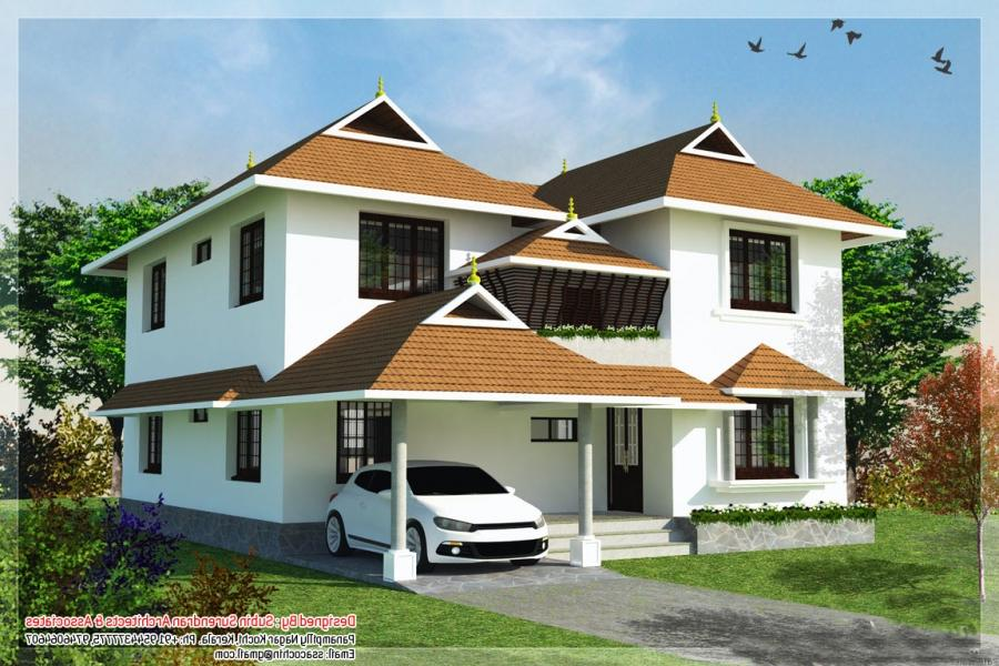 Traditional style Kerala home design at 2217 sq.ft