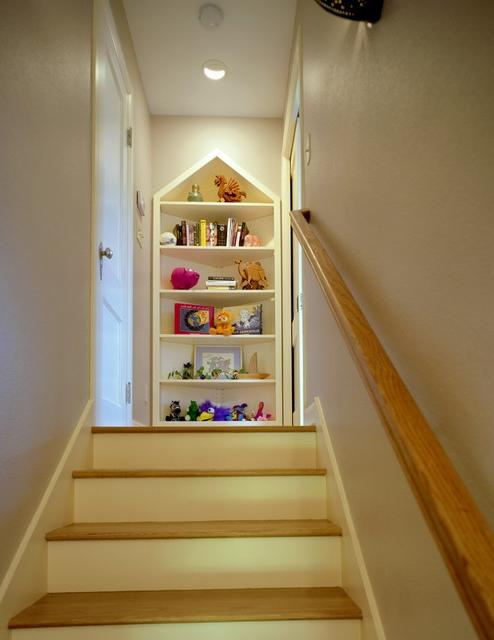 Attic Conversion To Bedroom Traditional Staircase Austin