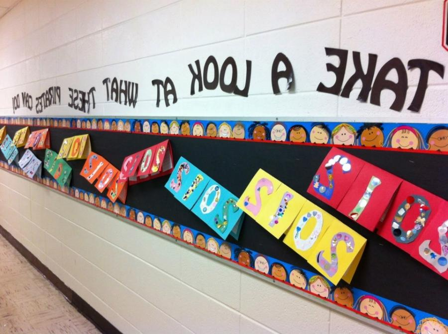 New Yearu Resolution Hallway Display