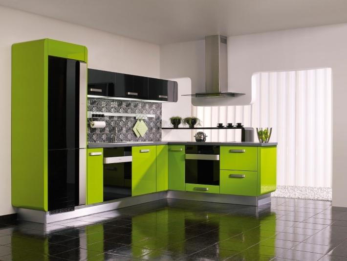 Modern lime green kitchen ideas