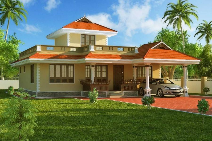 exterior house design u2013 1524 sqft kerala style home 3d...