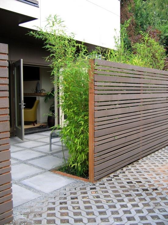 photos of mixed types of residential fence