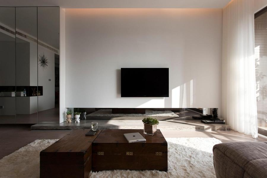 Architecture, Comfortable Contemporary Decor Modern Living Room:...