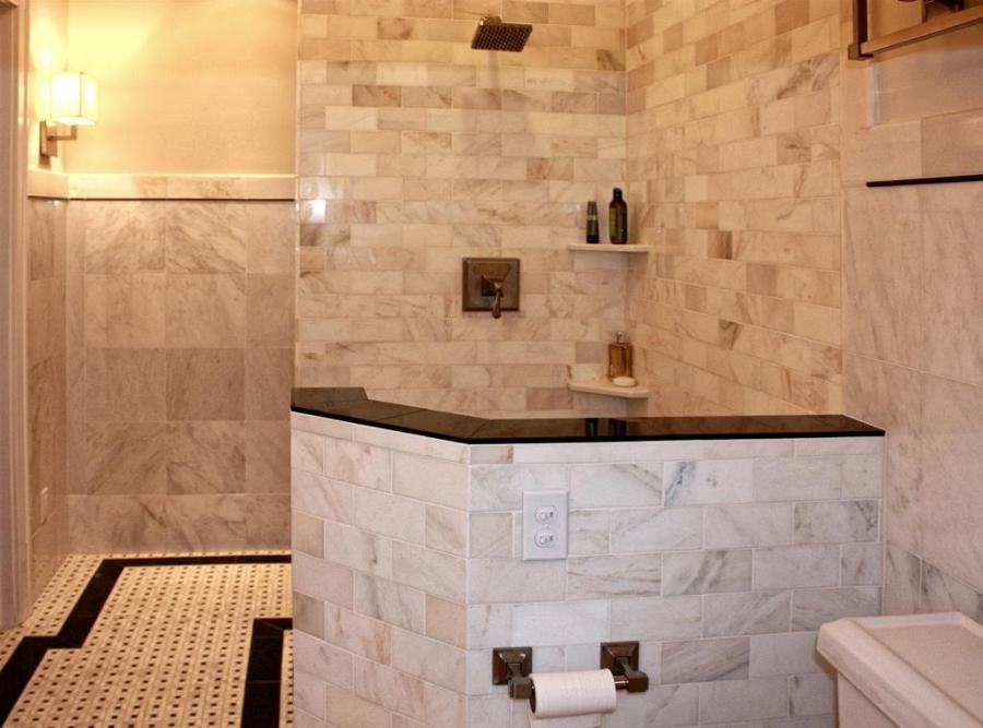 Ceramic tile for showers