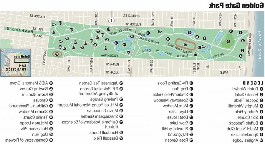 golden gate park map pdf