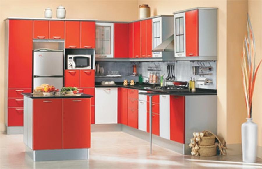 Pvc modular kitchen photos for Semi modular kitchen designs