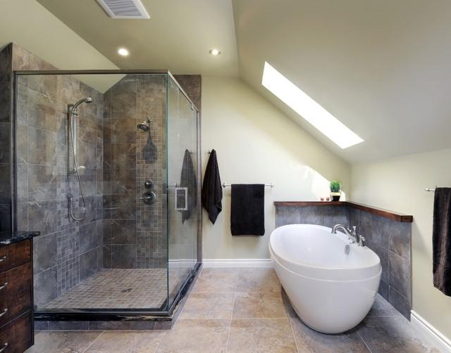 Attic Ensuite contemporary-bathroom