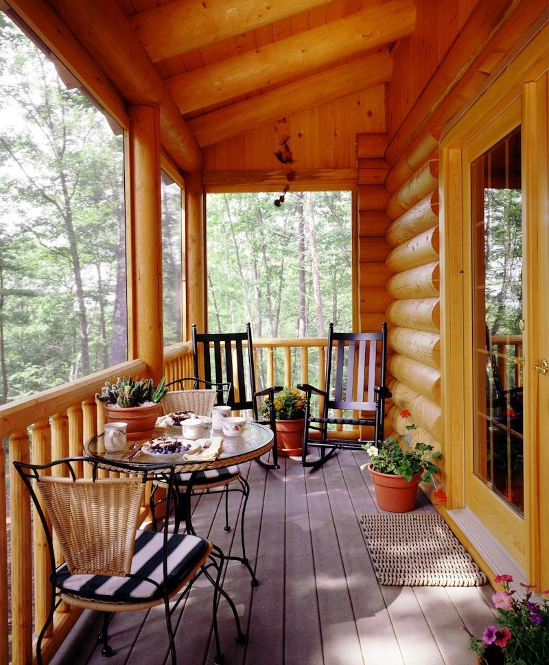 Log cabin porch photos for Log cabin porches and decks