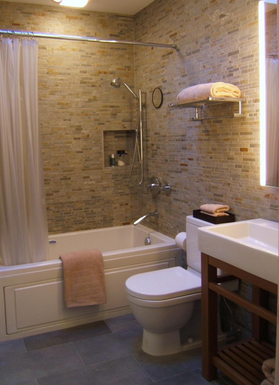 Photos of renovated small bathrooms - Small bathroom remodel with tub ...