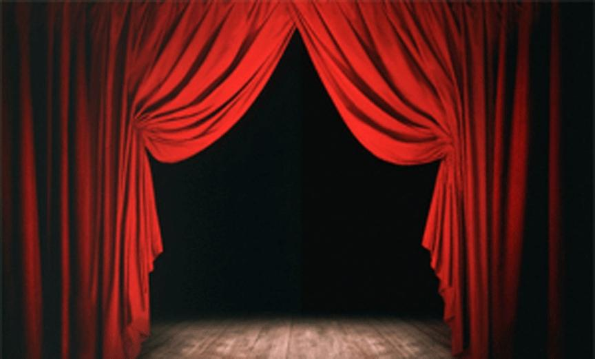 picture of theatre stage curtains