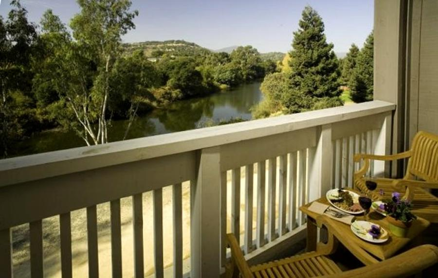 Chic and Elegant Suite Balcony Design of The River Terrace Inn...