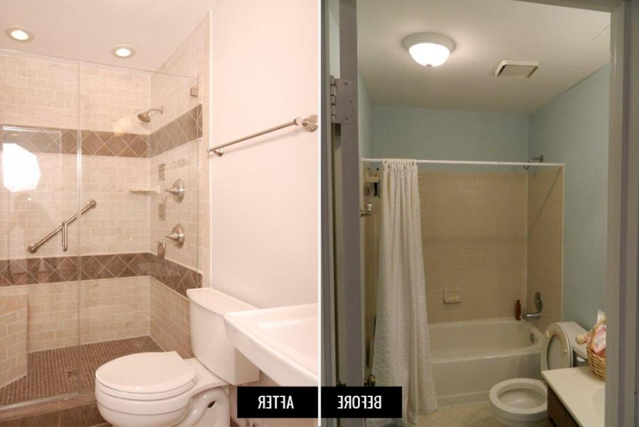 Small bathroom remodel before and after photos - Small bathroom remodel with tub ...