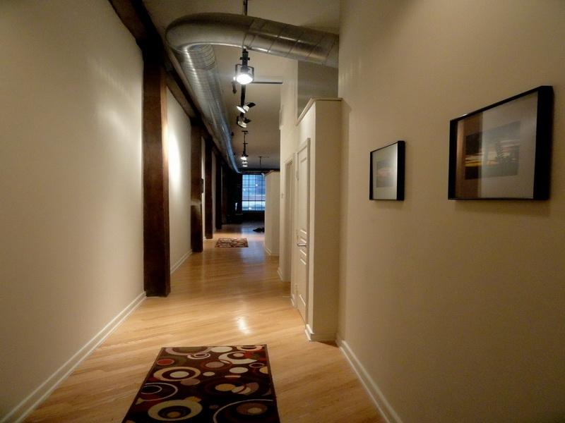 Wall Cream Wood Flooring Hallway Decorating Ideas