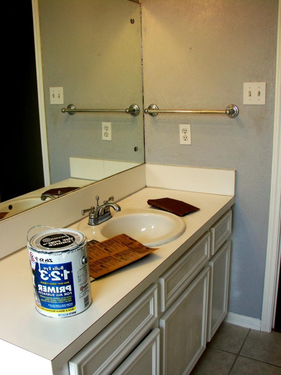 Bathroom countertop paint