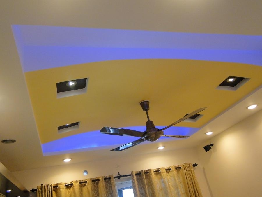 Gypsum Ceiling design with LED Lights