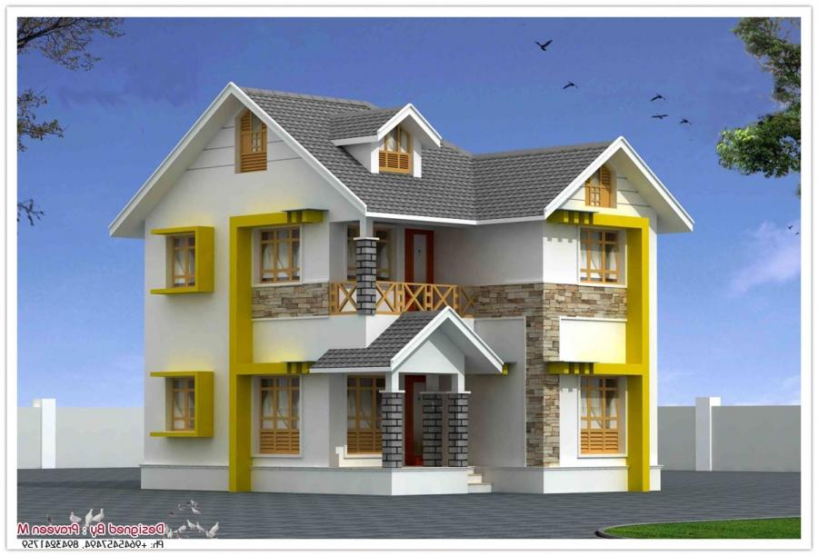 Kerala duplex house plans with photos for 1500 sq ft duplex house plans