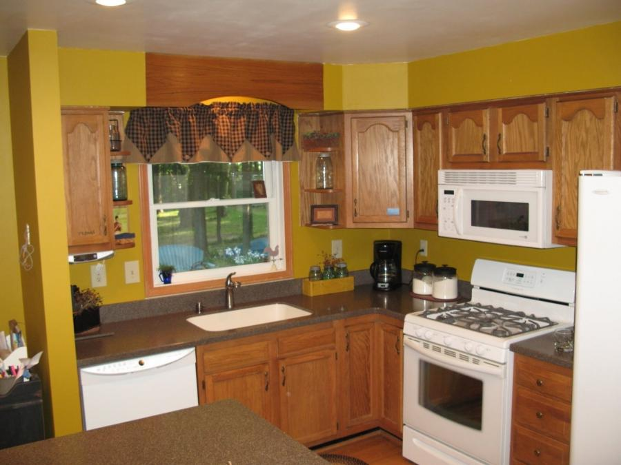 Decorating Gallery Photos Of Yellow Wall Kitchen