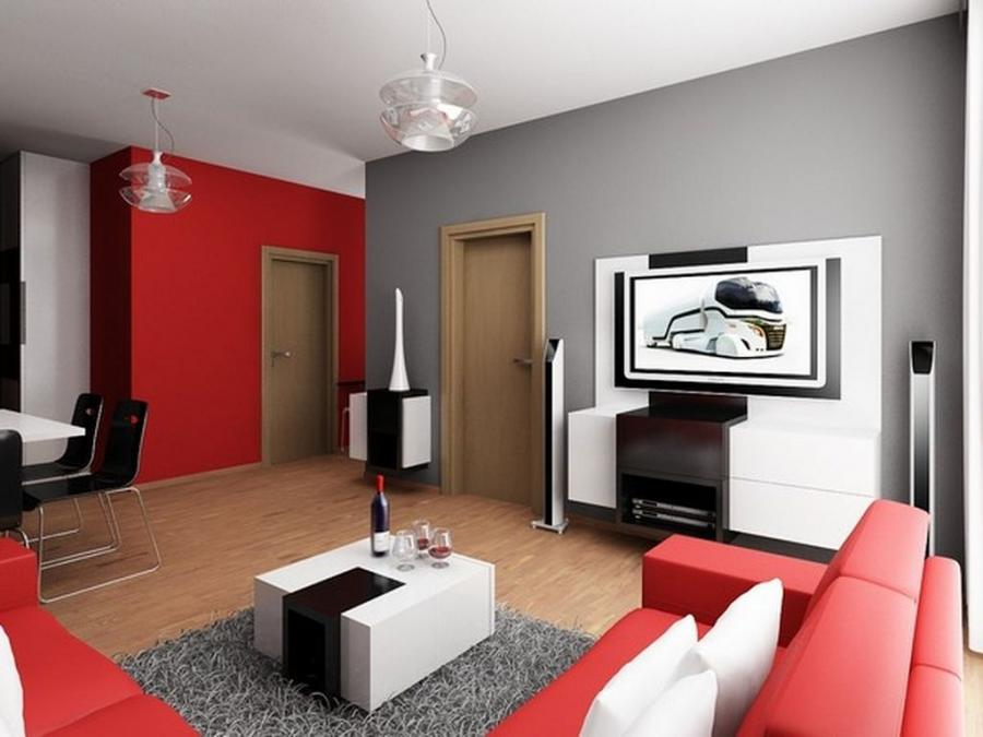 Living Room, Outstanding Small Apartment Living Room Design Gray...