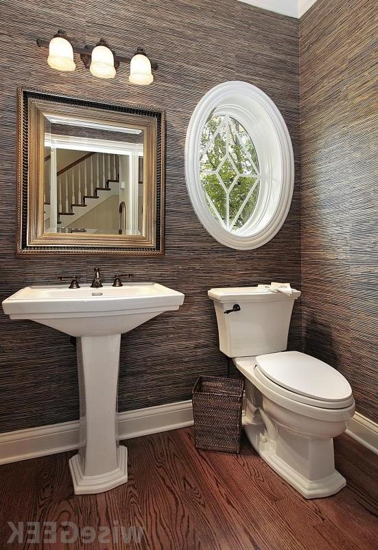 Powder room pedestal sink photos for Small bathroom designs you should copy