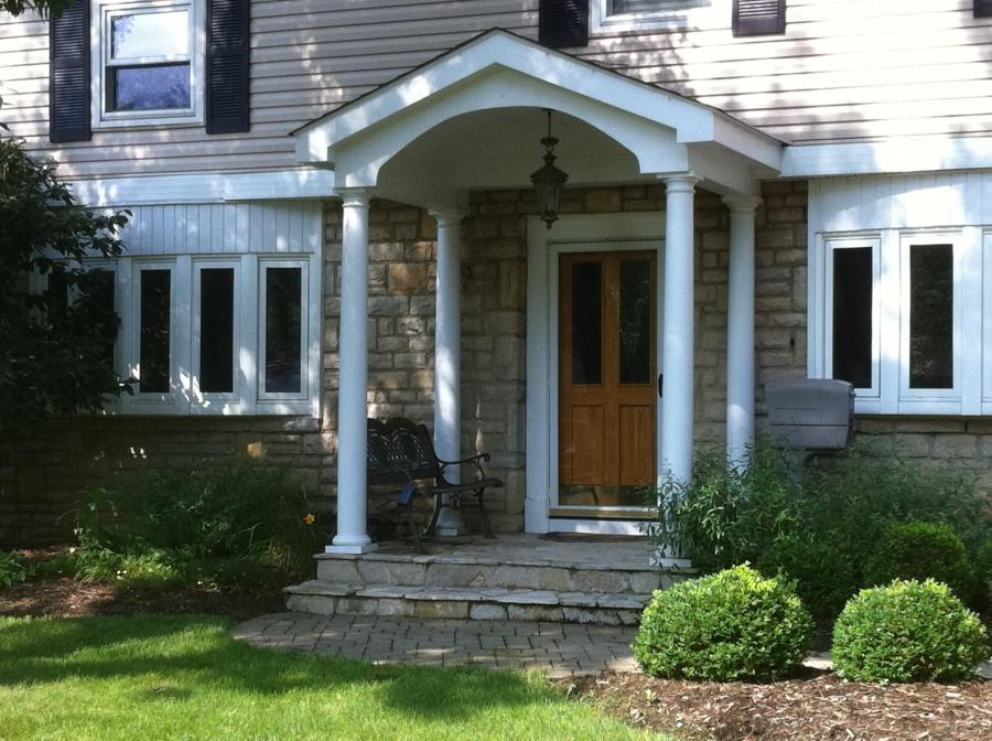 Photos of front porch designs for Decorative exterior columns for house