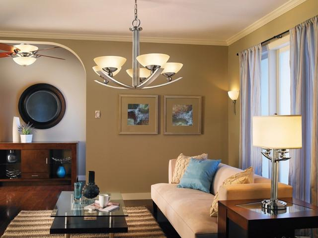 Palla Chandelier, Wall Sconce, Ceiling Fan and Table Lamp from...