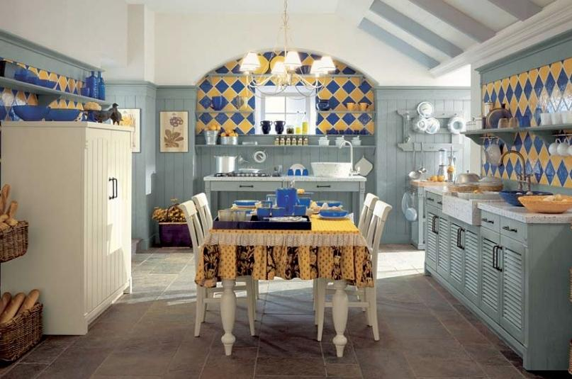 Photos Of Blue And Yellow Kitchens