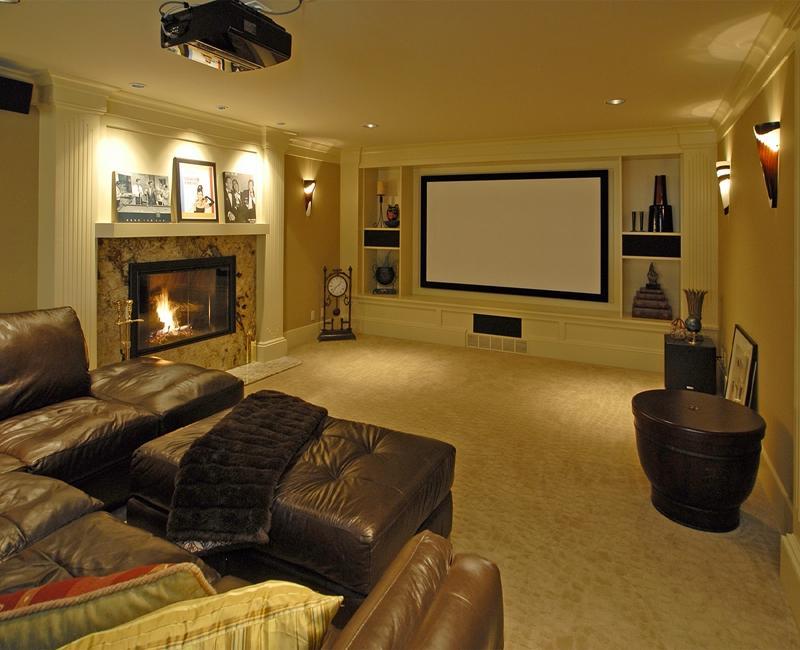 Home Media Room Photos