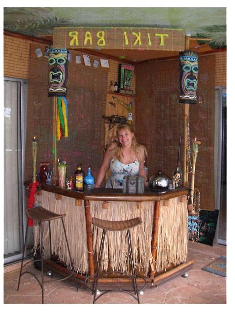 Vintage tiki lounge photos for How to build your own bar cheap