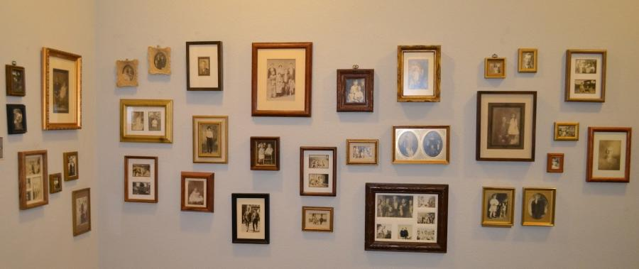 ... display many of our old family photos in the hallway upstairs...