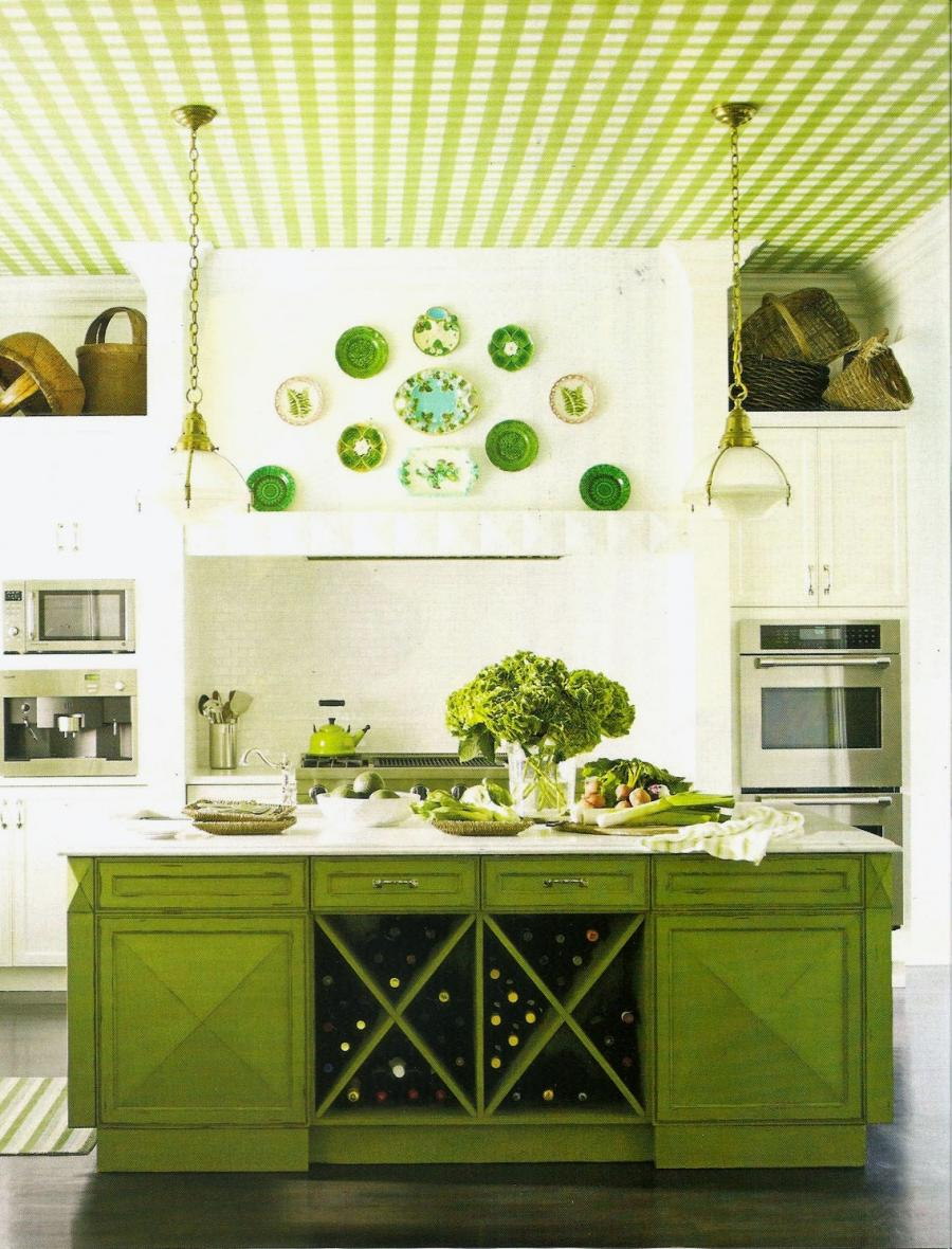 Decor is one of easy ideas in this green kitchen that you can...
